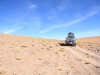 Jeep in altiplano lansdcape