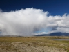 Cloudscape at lake Dayan Nuur in Mongolian Altai