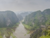 Hang Mua Peak panorTam Coc scenic area in Ninh Binh, north Vietnamamic view