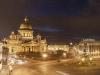 Панорама Исаакиевской площади вечером