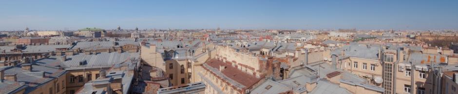 Панорама Санкт-Петербурга, вид с крыши