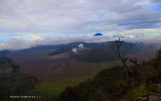 Bromo, Batok and Semeru Volcanos. Indonesia, East Java