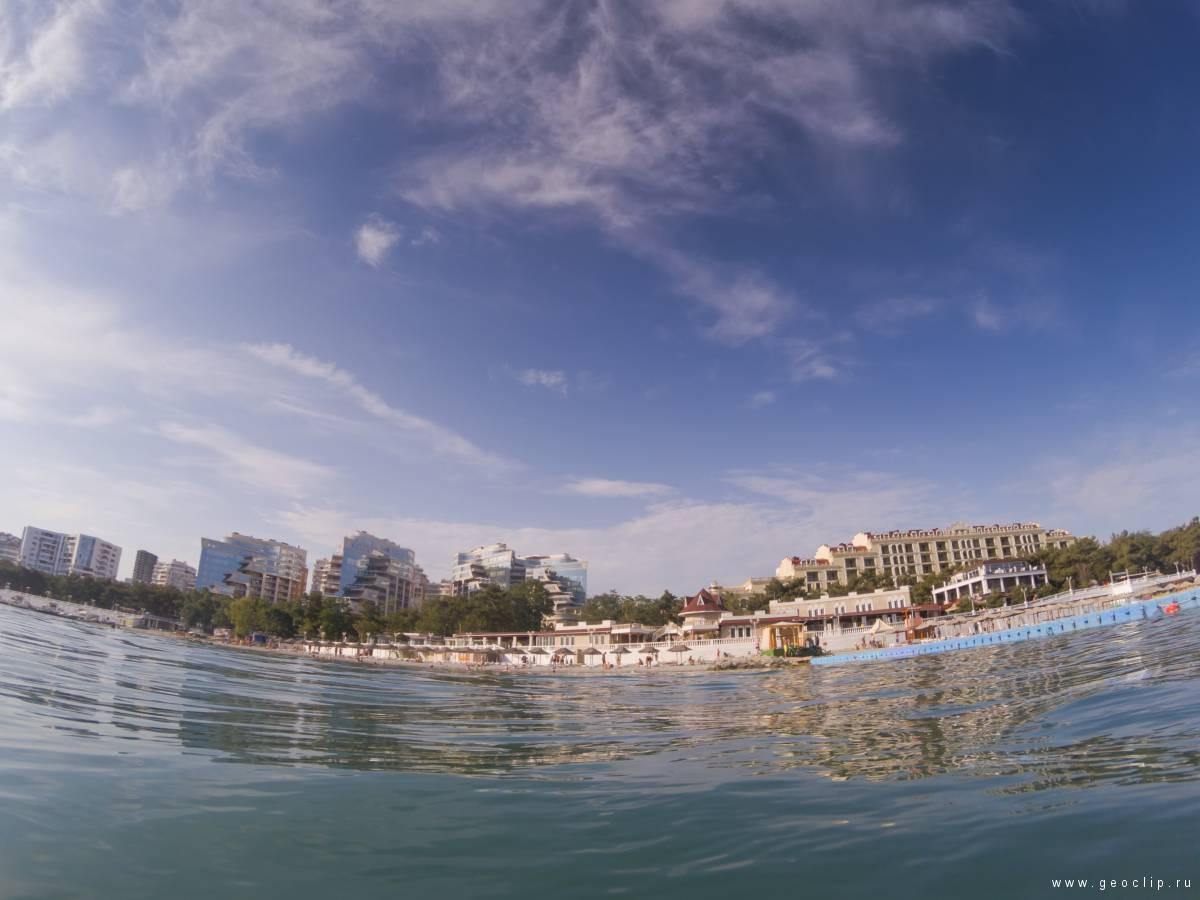 Пляж и ЖК Сады Морей