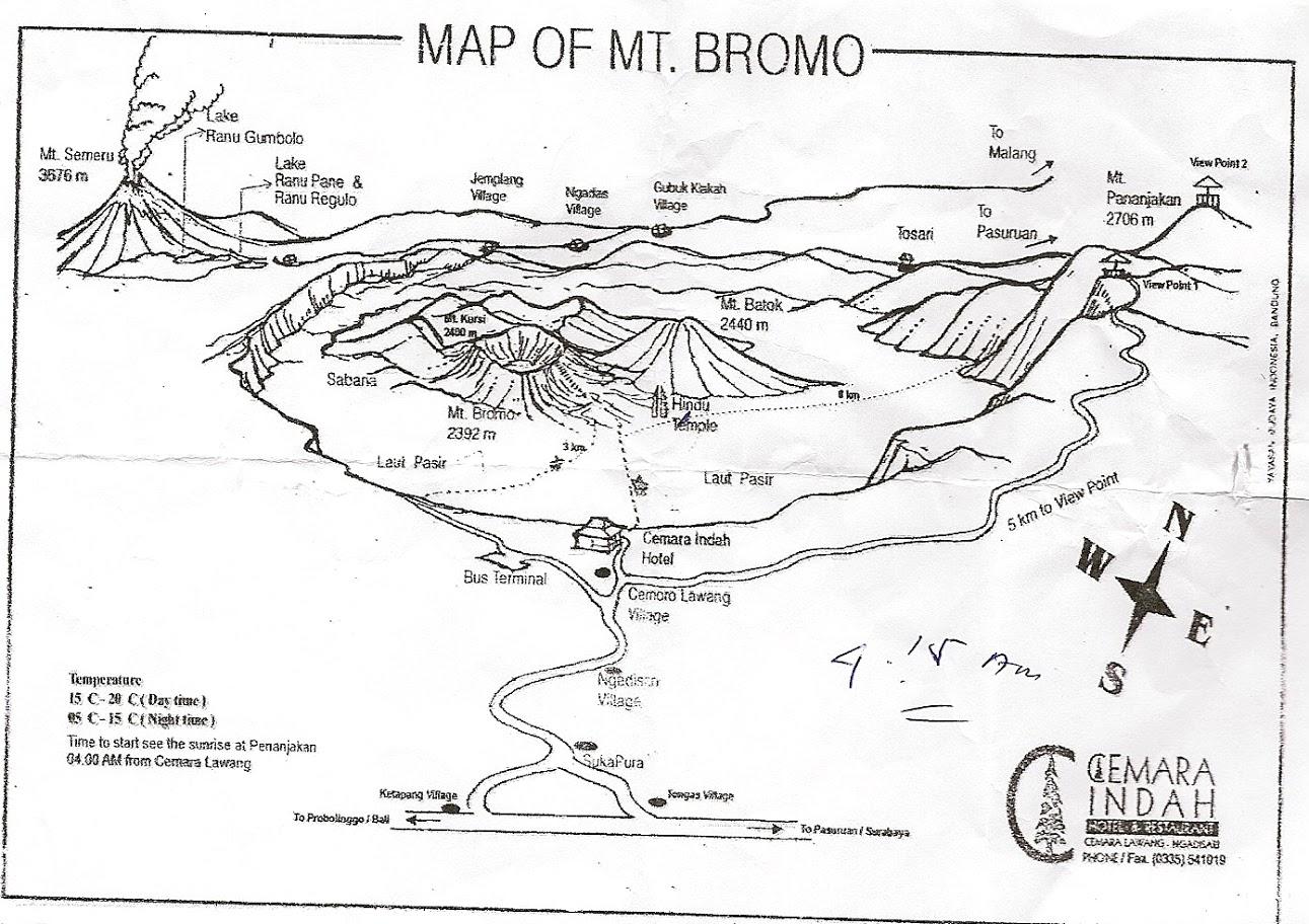 Схема вулкана Бромо