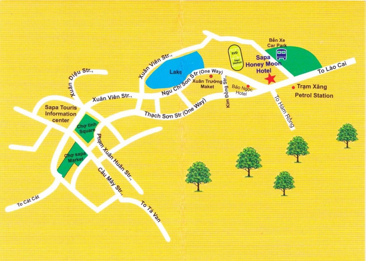 Схема города Сапа