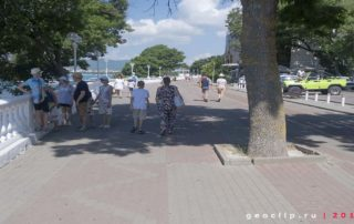 Галечный пляж в районе микрорайона Магнолия - набережная
