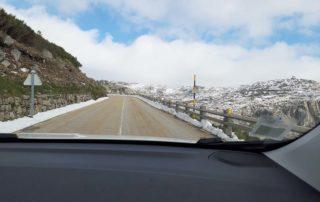 Дорога через Serra da Estrela