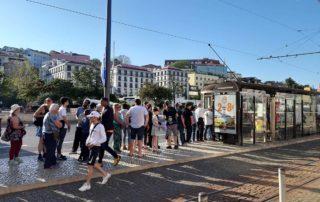 Лиссабон - очередь на трамвай 28