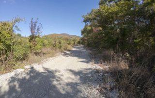 Грунтовая дорога до начала тропы