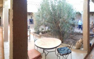 Внутренний двор в Риаде Chez Tonton