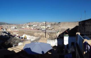 Вид с крыши Риада Dar Sondos