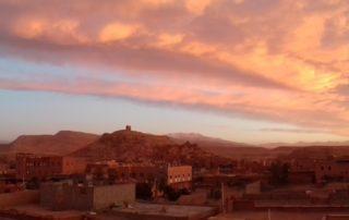 Рассвет на крыше Kasbah Valentine