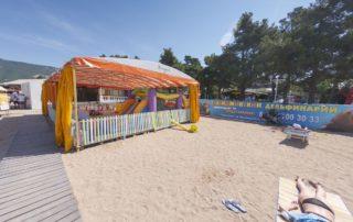 Центральный городской песчаный пляж Дельфин - детский клуб